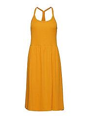 Minna Strap Dress - CADMIUM YELLOW