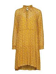 Branch LS Medi Dress - DAFFODIL
