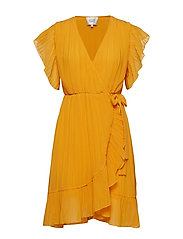 Mounce Wrap Dress - CADMIUM YELLOW