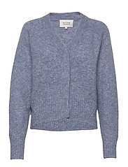 Brook Knit Boxy Cardigan - BLUE BONNET