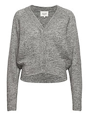 Brook Knit Boxy Cardigan - GREY MELANGE