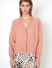 Second Female - Brook Knit Boxy Cardigan - koftor - light mahagony - 0