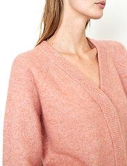 Second Female - Brook Knit Boxy Cardigan - koftor - light mahagony - 3