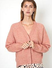 Second Female - Brook Knit Boxy Cardigan - koftor - light mahagony - 4