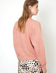 Second Female - Brook Knit Boxy Cardigan - koftor - light mahagony - 5