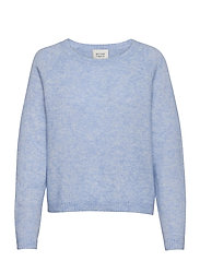 Brook Knit O-Neck - BRUNNERA BLUE