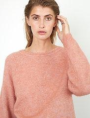 Second Female - Brook Knit O-Neck - tröjor - light mahagony - 3