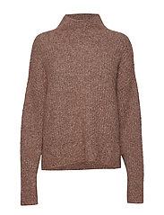 Maville Knit T-Neck - TORTOISE SHELL