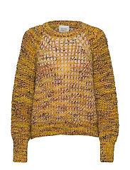 Oak Knit O-Neck - GOLDEN ROD