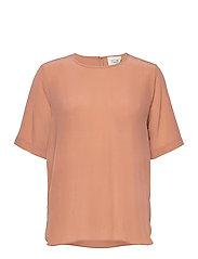 Tonga Silk SS T-Shirt - CAFE AU LAIT