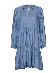 Lilla LS Dress - BLUE DENIM