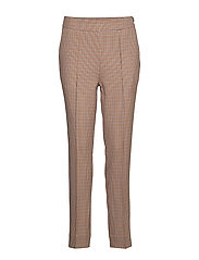 Lena HW Trousers - BRANDIED MELON