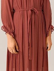 Second Female - Tul SS Long Dress - midi kjoler - henna - 5