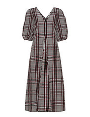 Emily SS Long Dress - HENNA