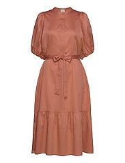 Aimee SS Midi Dress - APRICOT BRANDY