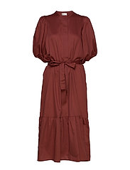 Aimee SS Midi Dress - HENNA