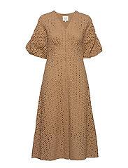 Milly SS Dress - PRALINE
