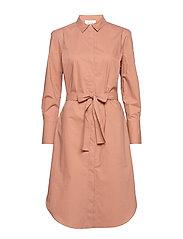 Larkin LS Midi Shirt Dress - MOCHA MOUSSE