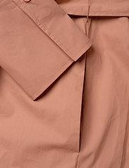 Second Female - Larkin LS Midi Shirt Dress - midiklänningar - mocha mousse - 7
