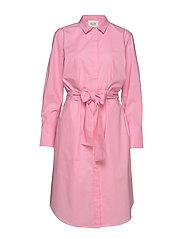 Larkin LS Midi Shirt Dress - PRISM PINK
