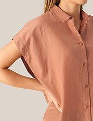 Second Female - Auso Shirt - kortermede skjorter - mocha mousse - 3
