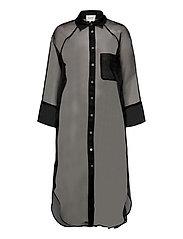 Opal Shirt Dress - BLACK