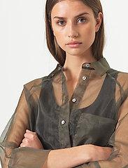 Second Female - Opal Shirt Dress - midiklänningar - black - 5