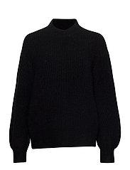 Galia Knit T-Neck - BLACK