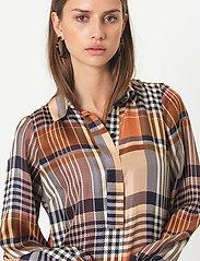 Second Female - Nice Midi Dress - skjortklänningar - caviar - 3