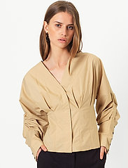 Second Female - Addison Shirt - långärmade blusar - ginger root - 0