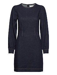 Antoinet Dress - DARK BLUE DENIM