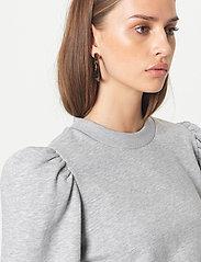 Second Female - Carmella Sweat - sweatshirts - light grey melange - 3