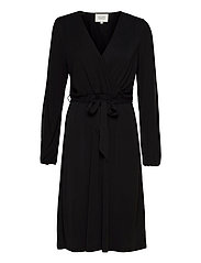 Missa Drape Dress - BLACK