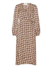 Decor Wrap Dress - MARZIPAN