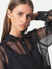 Second Female - Opal Shirt - långärmade blusar - black - 3