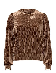 This long sleeved sweater is made in a beautful,  structured - SEPIA TINT