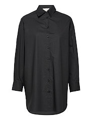 Larkin Oversized Shirt - BLACK