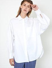 Second Female - Larkin New Shirt - långärmade skjortor - white - 0