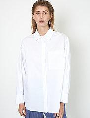 Second Female - Larkin New Shirt - långärmade skjortor - white - 4