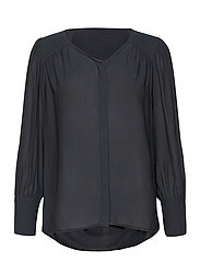 This shirt is made in a semi-shiny luxurious  polyester comp - BLACK
