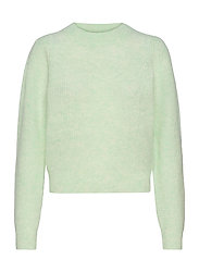 Brooky Knit Puff O-Neck - CLEARLY AQUA