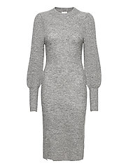 Mika Knit Dress - GREY MELANGE