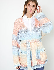 Second Female - Elsa Knit Cardigan - koftor - brunnera blue - 0