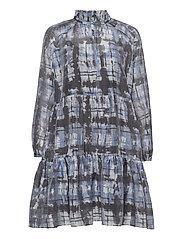 Imprint Dress - BLUE SHADOW