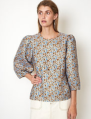 Second Female - Harriet Blouse - långärmade blusar - blue bonnet - 4