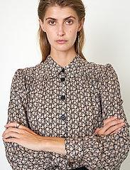 Second Female - Frank Shirt - långärmade skjortor - black - 3