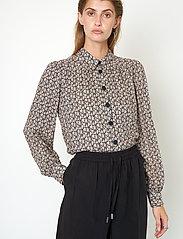 Second Female - Frank Shirt - långärmade skjortor - black - 5