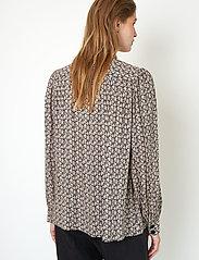 Second Female - Frank Shirt - långärmade skjortor - black - 6