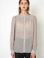 Second Female - Lacing Shirt - långärmade skjortor - cement - 0