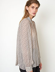 Second Female - Lacing Shirt - långärmade skjortor - cement - 4